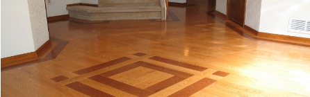 Installing prefinished oak hardwood - two colors