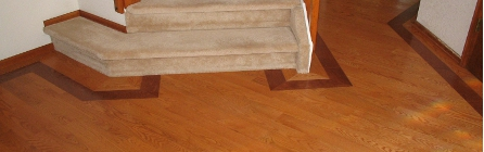 Artistic design - oak hardwood