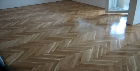 Restoring old parquet - sanding and finishing of wood flooring